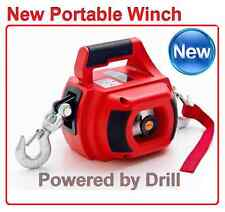 2017 NEW NEBULA PORTABLE 500LB ELECTRIC DRILL POWERED WINCH