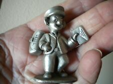 """Pewter 'Mailman' Clown w Mailbag, (U. S. Mail) Spoontiques Pp476 2"""" X 1 1/2"""""""