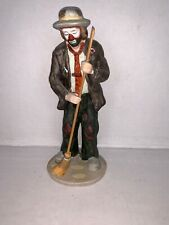 Vintage Flambro Emmett Kelly Jr. Collection Clown Sweeping with Broom Figurine
