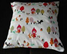 Kissenhülle, Kissenbezug 40x40 cm, Rotkäppchen, Kinderkissen, Handarbeit, neu