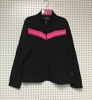 Be Inspired Women's Zipper Front Black Pink Yoga Active Wear Top Jacket 3X NWT