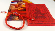 1 x SAI SIN Sacred RED BUDDHA BRACELET blessed Buddhist Monk Luck PHA YANT.