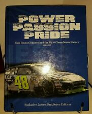 JIMMIE JOHNSON POWER PASSION PRIDE EXCLUSIVE LOWE'S EMPLOYEE EDITION! HC + DVD