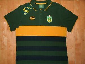 Australia National RUGBY League HOLDEN KANGAROOS XL CANTERBURY Womens Polo Shirt