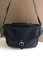 047bf2072 Coach Black Men's Logan Leather Briefcase Messenger Bag Laptop Case Travel