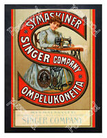 Historic Singer Sewing Machines 1900s Advertising Postcard