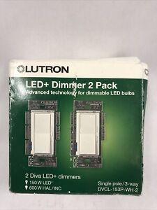 Lutron DVCL-153P-WH-2 Diva 150-Watt Single Pole/3-Way LED/CFL Dimmer (2 Pack)