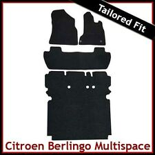 CITROEN BERLINGO MULTISPACE 2008 onwards Tailored Carpet Car & Boot Mats BLACK