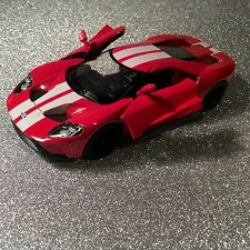 KINSMART 2017 Ford GT red / white stripes Car Diecast Scale 1/38