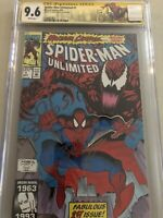 CGC 9.6 SS Spider-Man Unlimited #1 Signed Mark Bagley 1st Shriek Maximum Carnage