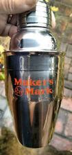 Makers Mark Bourbon Small Metal 6 Oz. Shaker Cocktail Mixer Barware Display