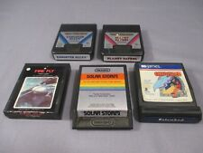 Atari 2600 ENTOMBED FIREFLY GANGSTER ALLEY SOLAR STORM Video Game Cartridge Lot
