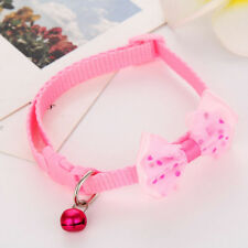 Adjust Small Pet Dog Bow Tie Collar Puppy Cat Kitty Buckle Neck Strap With Bell
