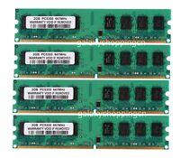 8 G 8GB 4X 2GB 2 G PC2-5300 DDR2-667MHz DIMM Memory For Dell Dimension E510 E520
