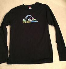 Quicksilver T shirt Long Sleeve Mens Large Logo Boarding Apparel Surfer Tee