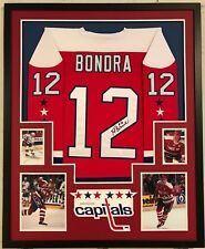 FRAMED WASHINGTON CAPITALS PETER BONDRA AUTOGRAPHED SIGNED JERSEY JSA COA