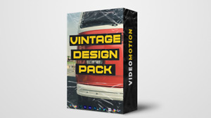 VIDEO MOTION - Vintage Design Pack, Old Paper, Plastic Textures, Stickers, Tapes