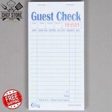 50 Books 2 Part Green White Carbon Restaurant Guest Checks 2500 Tickets
