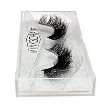 1Pair Bushy Cross False 3D Natural Eyelashes Mink Hair Eye Lashes Black Handmade