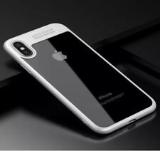 NEW For Apple iPhone X Ultra Thin Transparent Clear Shockproof Bumper Case WHITE