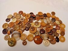 Lot of Vintage Multi-Color Old Plastic and Vegetable Ivory Buttons