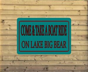 Personalized Lake House Metal Sign Custom Vacation Home Plaque fishing cabin L4
