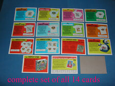 """1988 TOPPS """"COMPANY STORE"""" COMPLETE INSERT SET OF ALL 14 CARDS"""