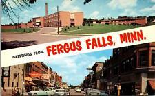 Fergus Falls MN Postcard unused 1950s
