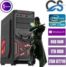 Desktop PC Intel Core 2 Duo scheda grafica dedicata SO Windows 10