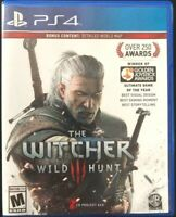 New, Witcher 3: Wild Hunt (PlayStation 4, 2015), Sealed, Free Shipping!