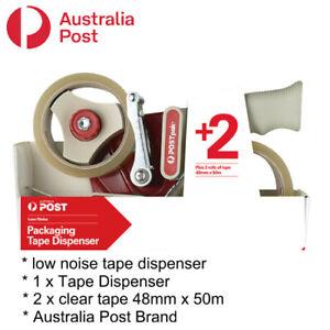 Auspost Brand Packaging Tape Dispenser Tape Gun includes 2 rolls of clear tape