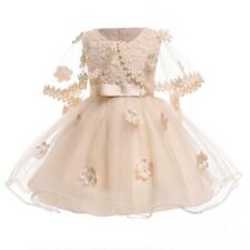 Dress kid baby girl party dresses formal flower princess tutu wedding bridesmaid