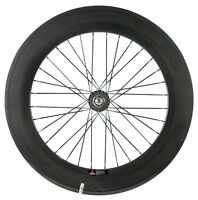 700C 88mm Clincher Track Carbon Wheels Fixed Gear Rear Clincher Carbon Wheels