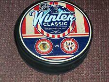 2015 WINTER CLASSIC PUCK Dueling  Washington Capitals vs Chicago Blackhawks