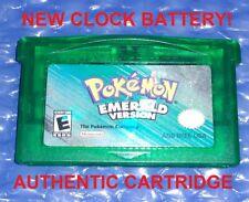 AUTHENTIC Pokemon Emerald Version New Clock Battery GameBoy Advance GBA GENUINE