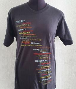 Bauhaus Shirt grau 100% Cotton  / Paul Klee Anni Albers Benita Otte Lucia Moholy