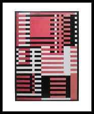 Josef Albers Goldrosa Aufwärts Poster Bild Kunstdruck im Alu Rahmen 58x48cm