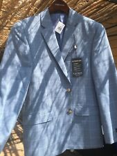 Ralph Lauren Ultra Flex Slim Fit Sports Jacket NWT 40R Light Blue