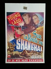 Shanghai R1940s Belgian Movie Poster Cowboy Western Loretta Young Alan Ladd