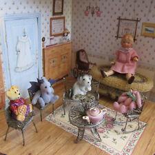 Antique Miniature STERLING SILVER FILIGREE FURNITURE Victorian Artisan Dollhouse