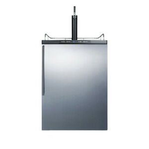 """Summit SBC635MBISSHV 24""""W 6 Cu. Ft. Single Tap Built-In Kegerator - Stainless"""