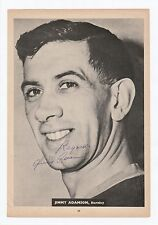 JIMMY ADAMSON BURNLEY 1947-1964 RARE ORIGINAL SIGNED MAGAZINE PICTURE CUTTING