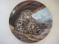 """BEAUTIFUL """"THE SNOW LEOPARD"""" 1989 2ND ISSUE BY WILL NELSON PLATE, BRADEX"""