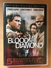 Leonardo DiCaprio BLOOD DIAMOND ~ 2006 Clonflict Drama 2-Disc Region 1 US DVD