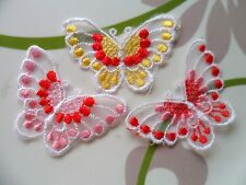Mixed 20pcs Venise Embroidered Lace Butterflies Craft Appliques Sewing 2.5""