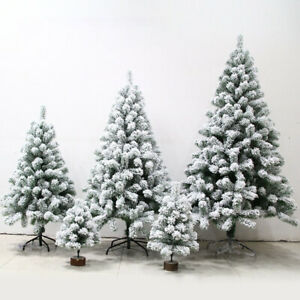 Artificial Christmas Trees- Pine White Big Nordic Flocking- 2021 New Year Decors