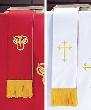 Bookmark Reversible Red and White for Church Service NEW (KC132)