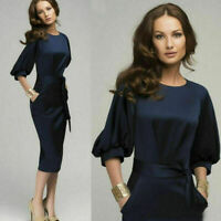 Elegant Womens Office Lady Formal Business Work Party Sheath Pencil Dress Tunic