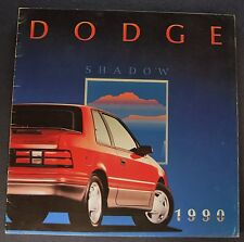 1990 Dodge Shadow Catalog Sales Brochure Excellent Original 90 Canadian