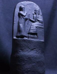 CODE OF HAMMURABI Replica Babylonian Cuneiform Stele 1750 BC black stone tablet